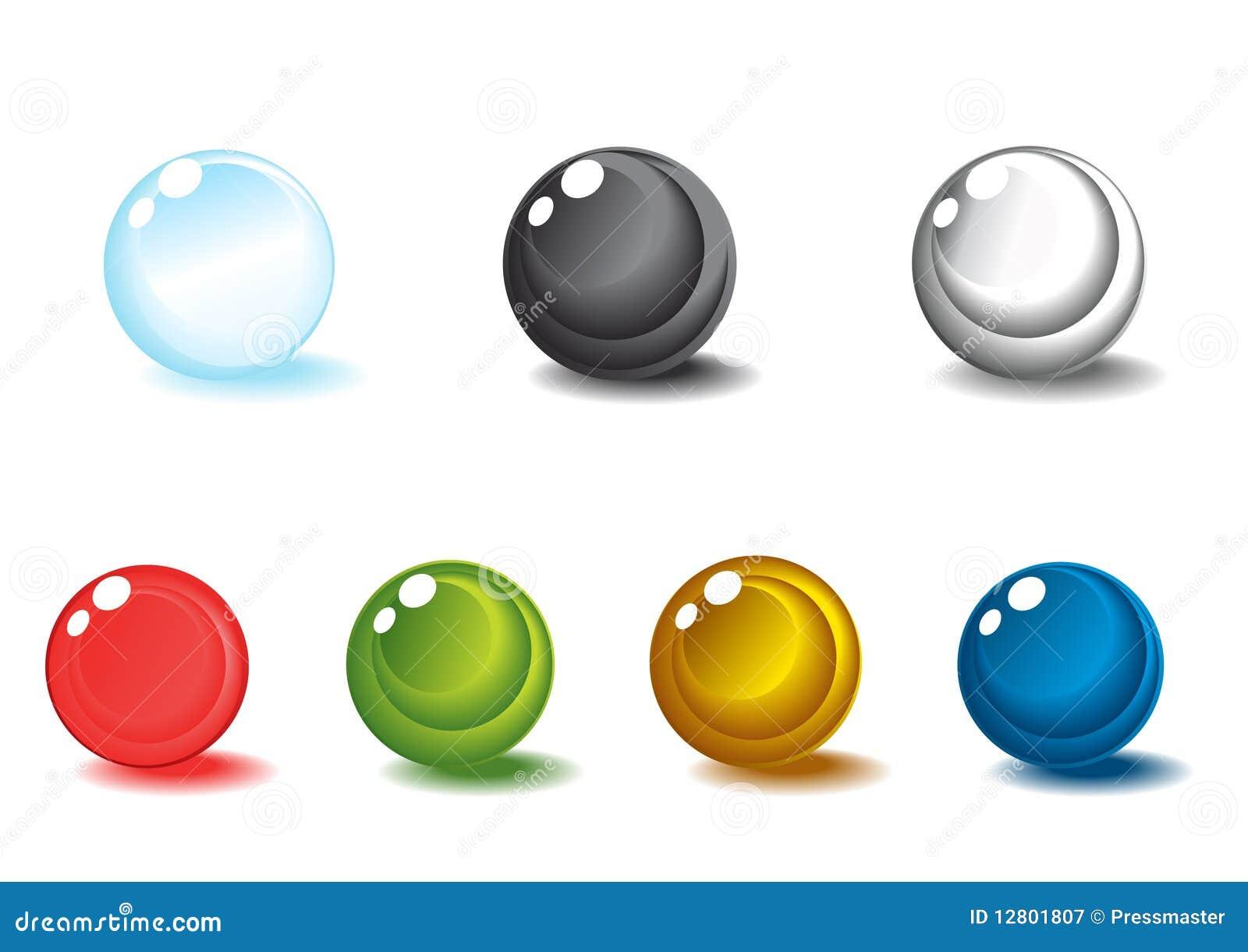 Esferas lustrosas coloridas