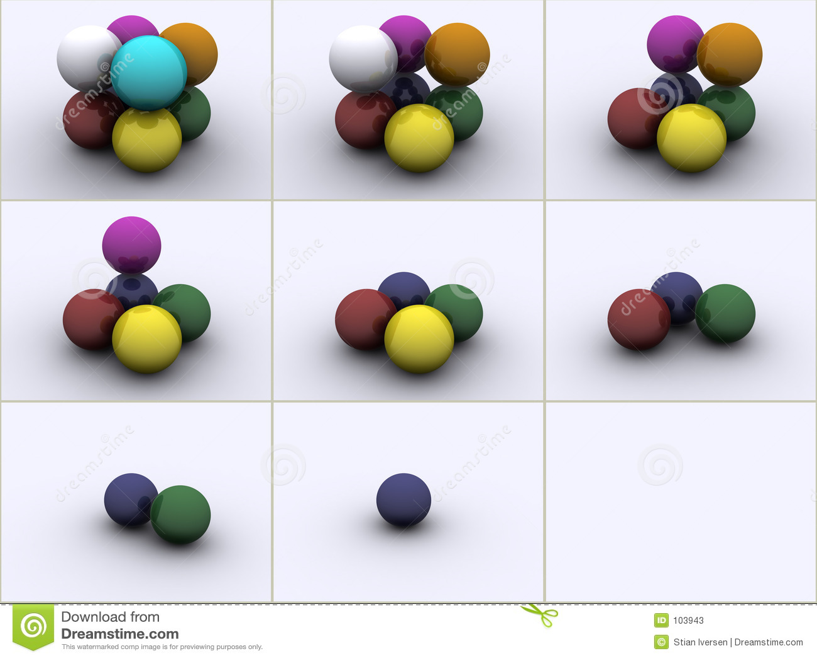 Esferas nas cores
