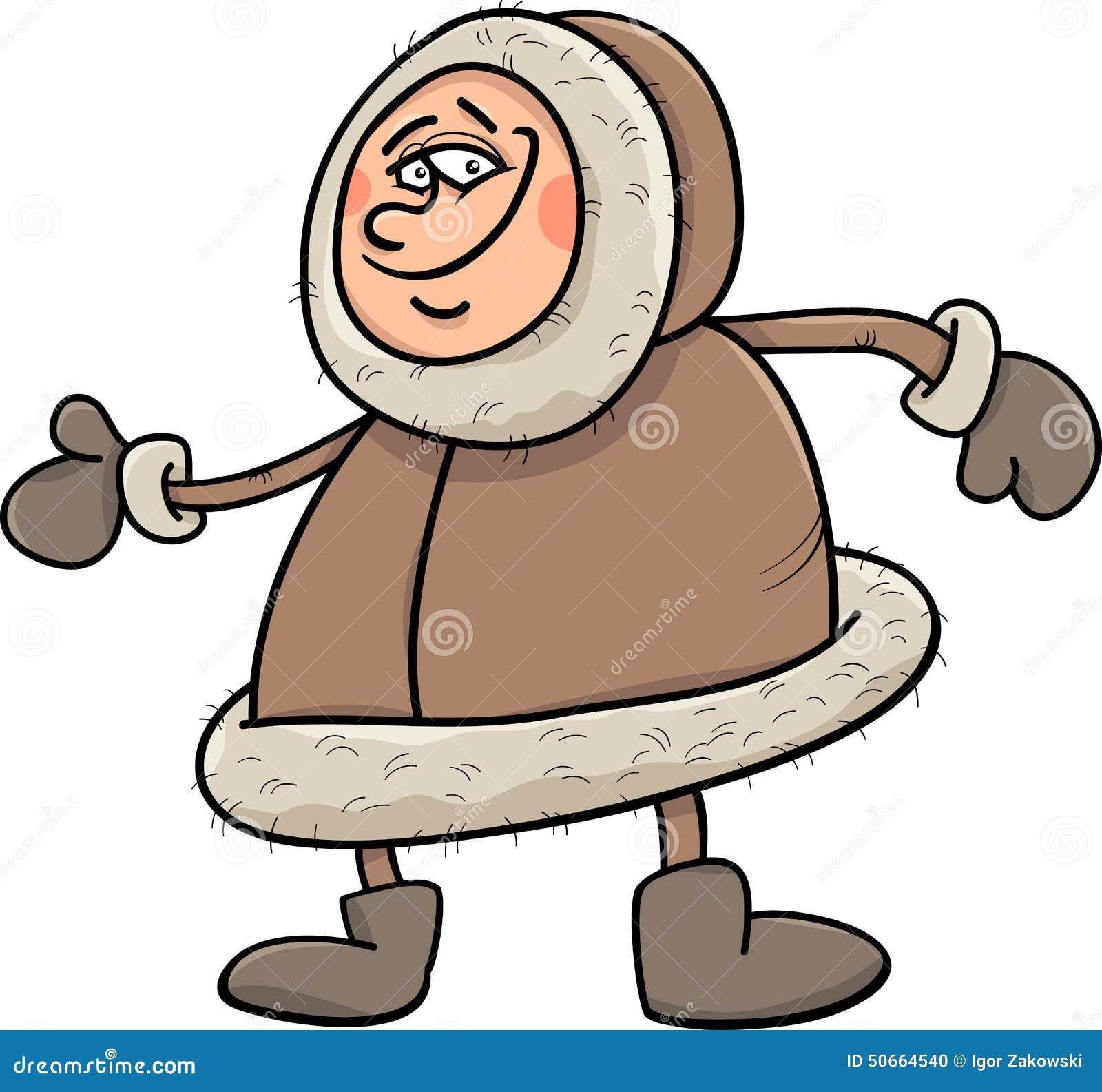 Eskimo Cartoon Illustration Stock Vector - Image: 50664540