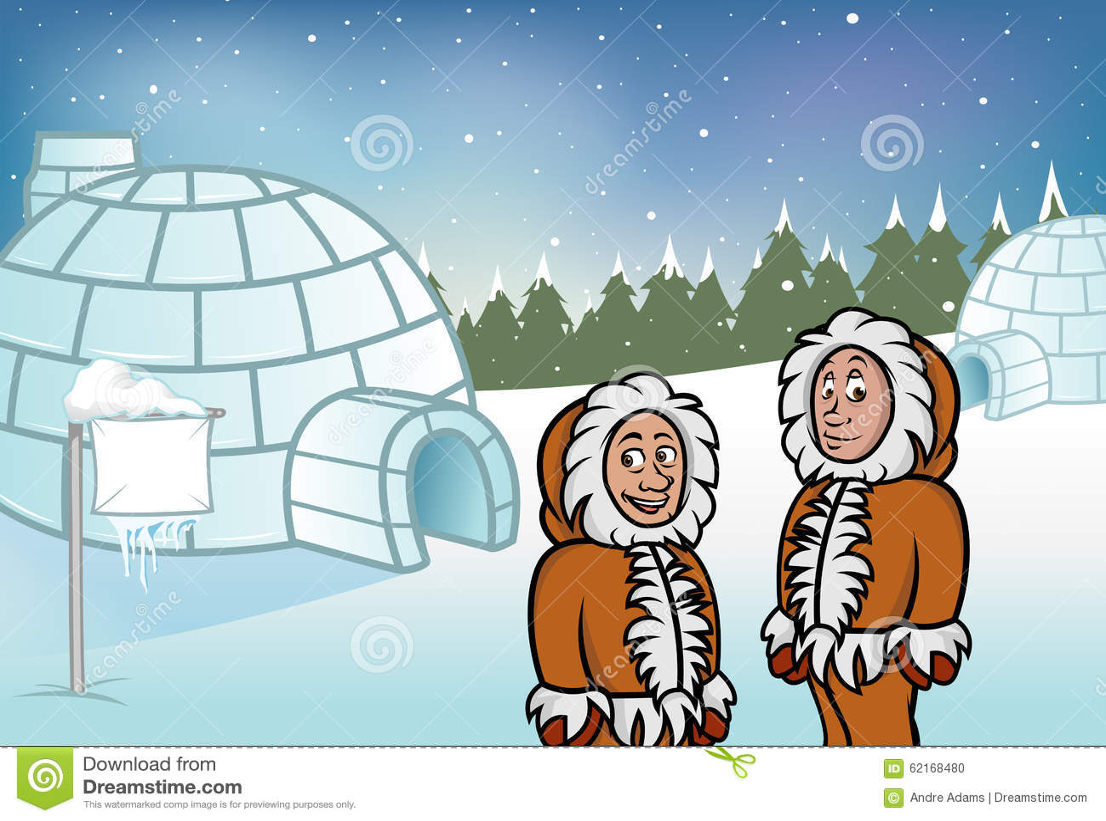 Eskimo Igloos Stock Vector
