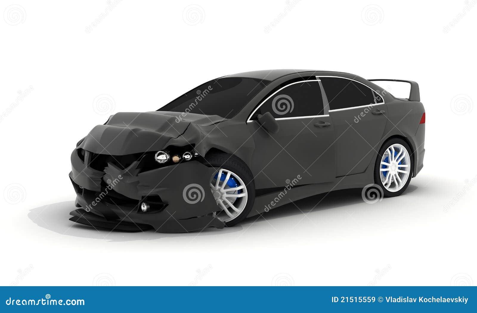 Esmagamento preto do carro
