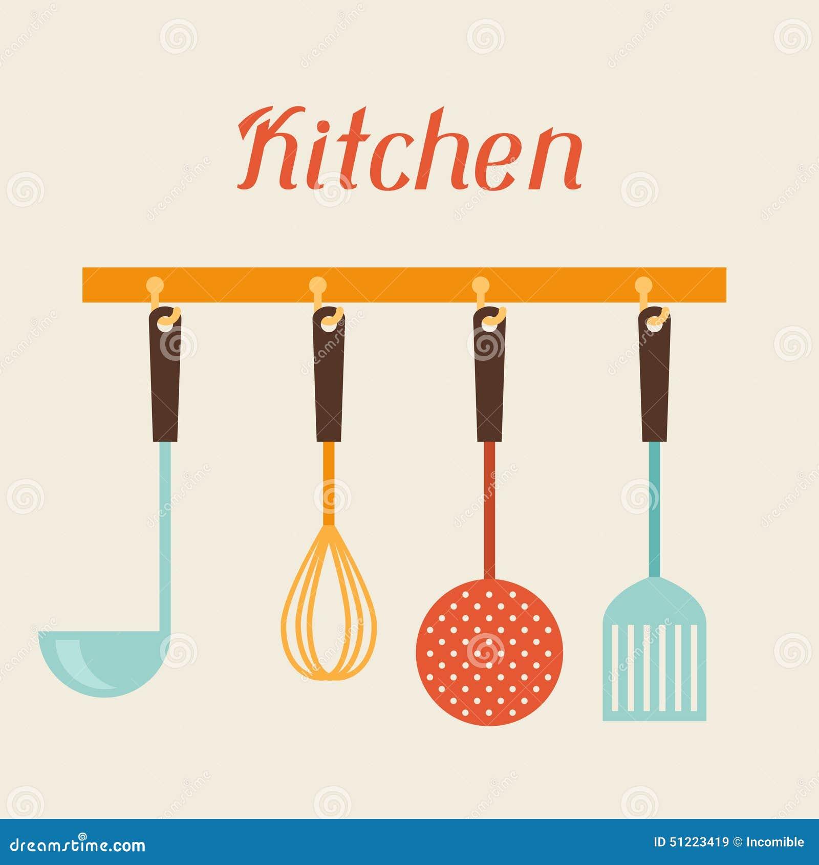 Esp Tula Dos Utens Lios Da Cozinha E Do Restaurante Batedor De  ~ Desenho Utensílios De Cozinha