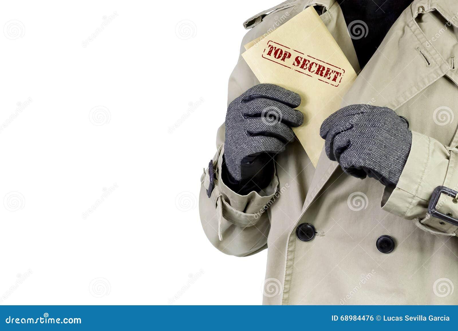 Espía con los documentos de alto secreto