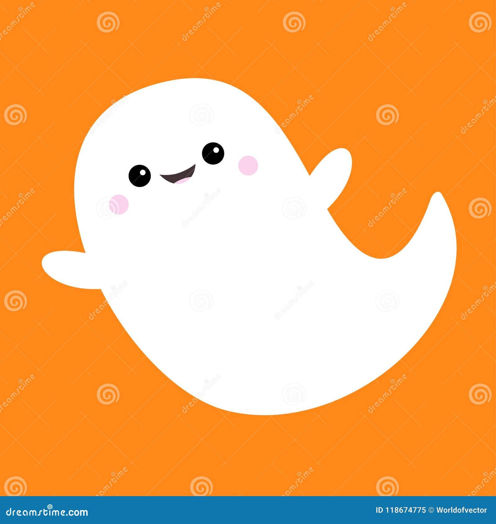 Espirito Do Fantasma Do Voo Boo Halloween Feliz Fantasmas Brancos