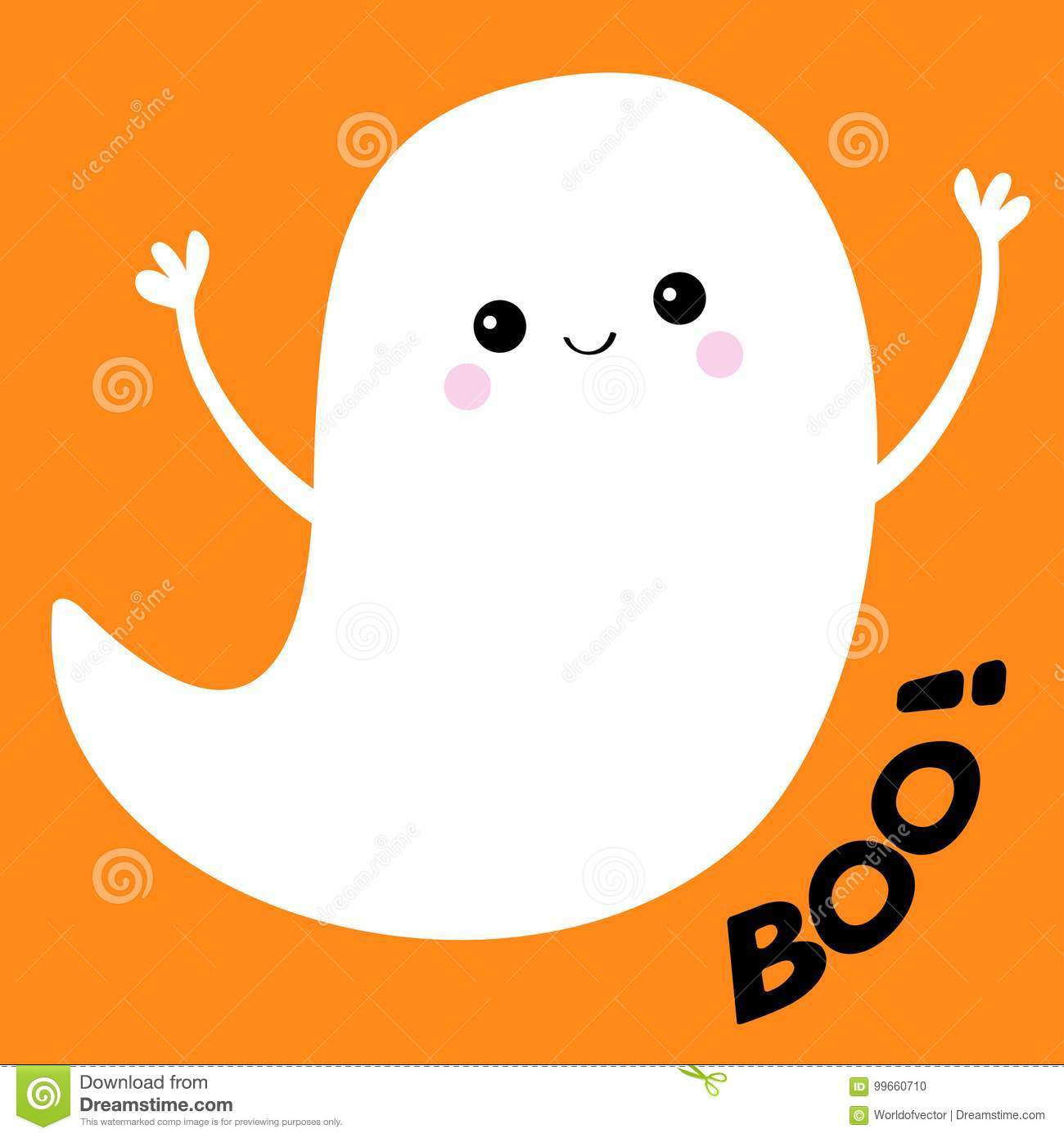 Espirito Do Fantasma Do Voo Boo Text Halloween Feliz Fantasmas