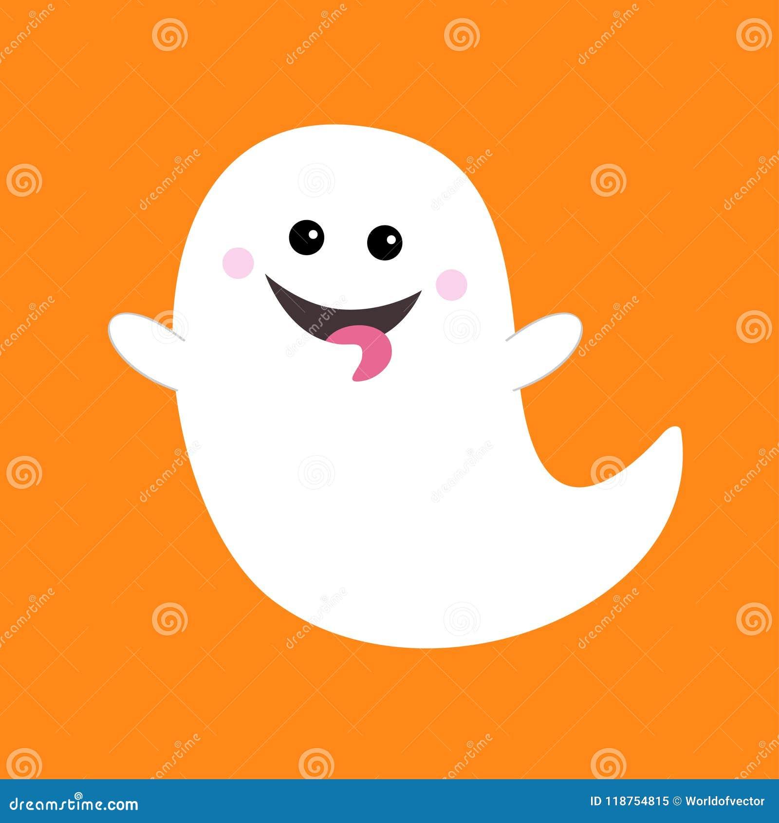 Espirito Do Fantasma Do Voo Que Mostra A Lingua Boo Halloween