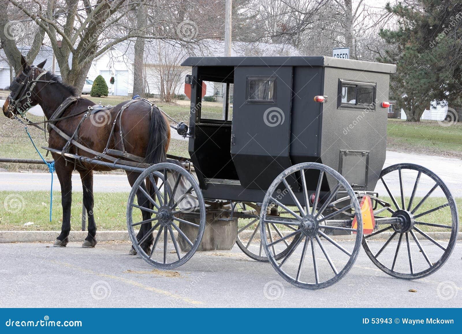 Espaço de estacionamento de Amish
