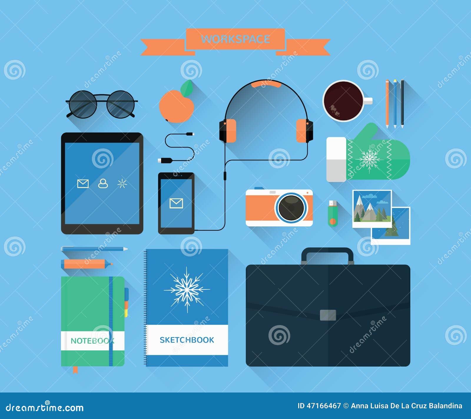 Espaço de trabalho e equipamento modernos