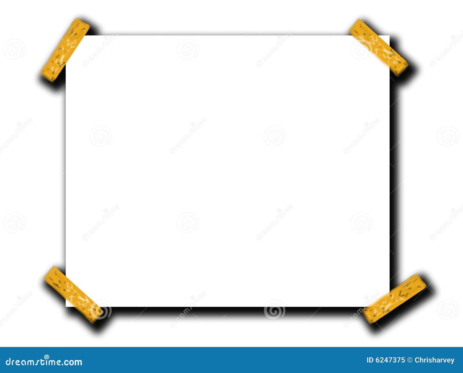 Espaço do papel em branco com fita 4