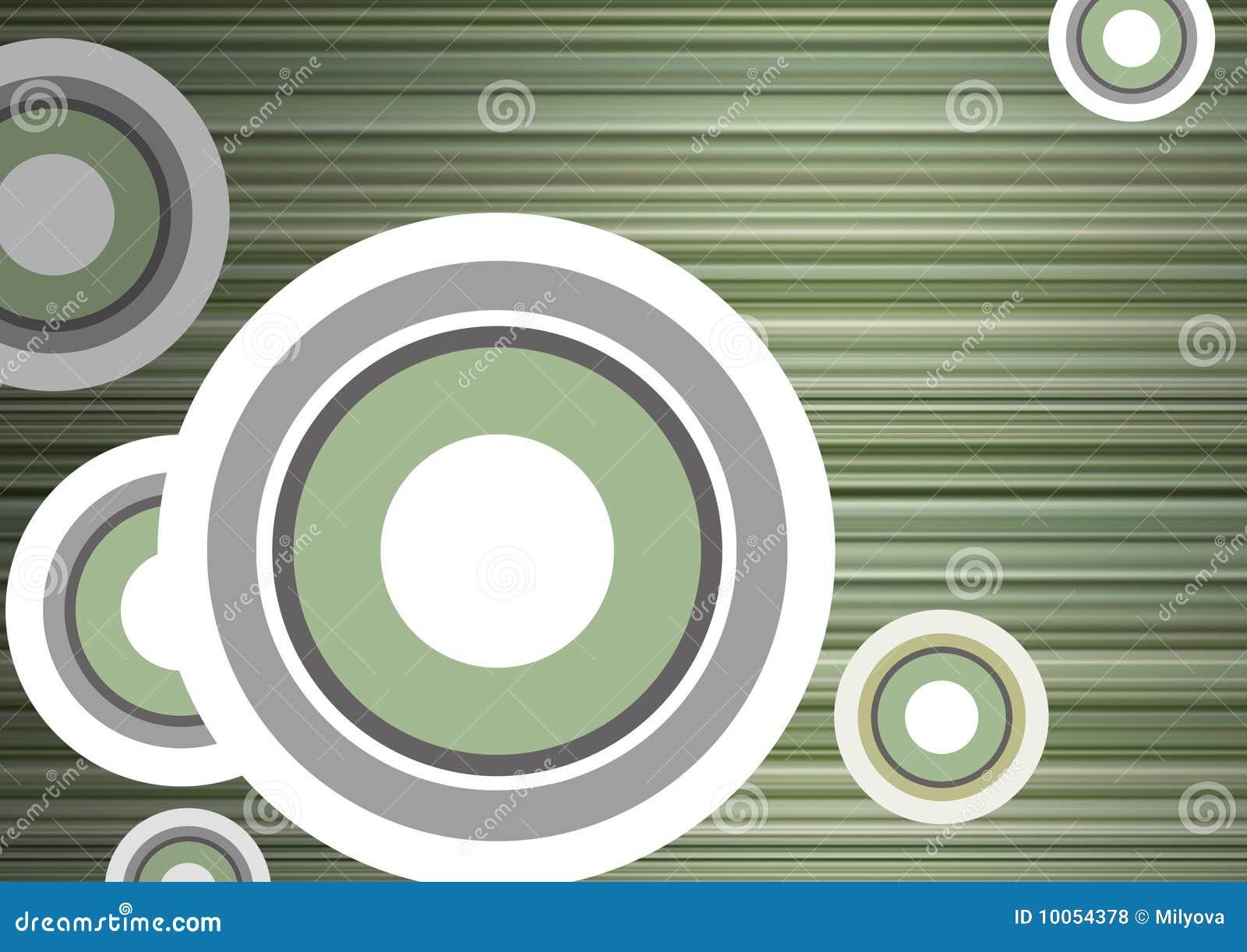 Espaço em branco com tiras e círculos