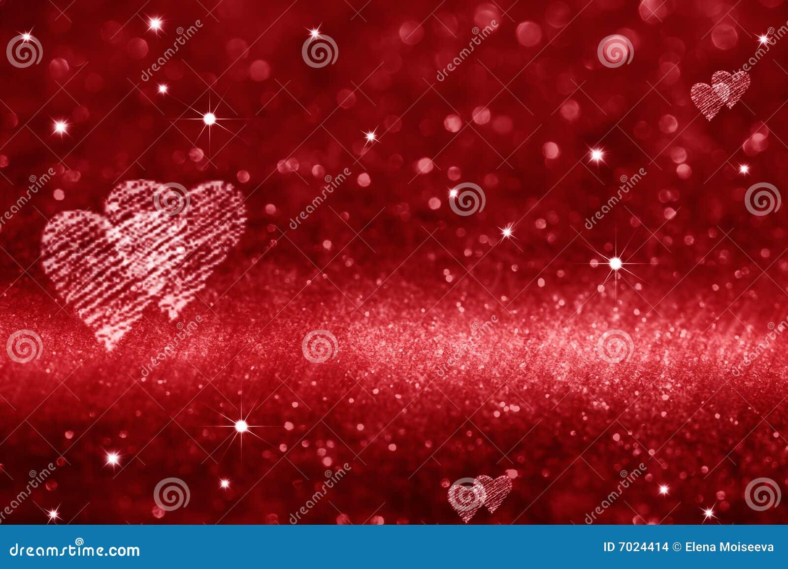 Espaço vermelho do coração para o amor