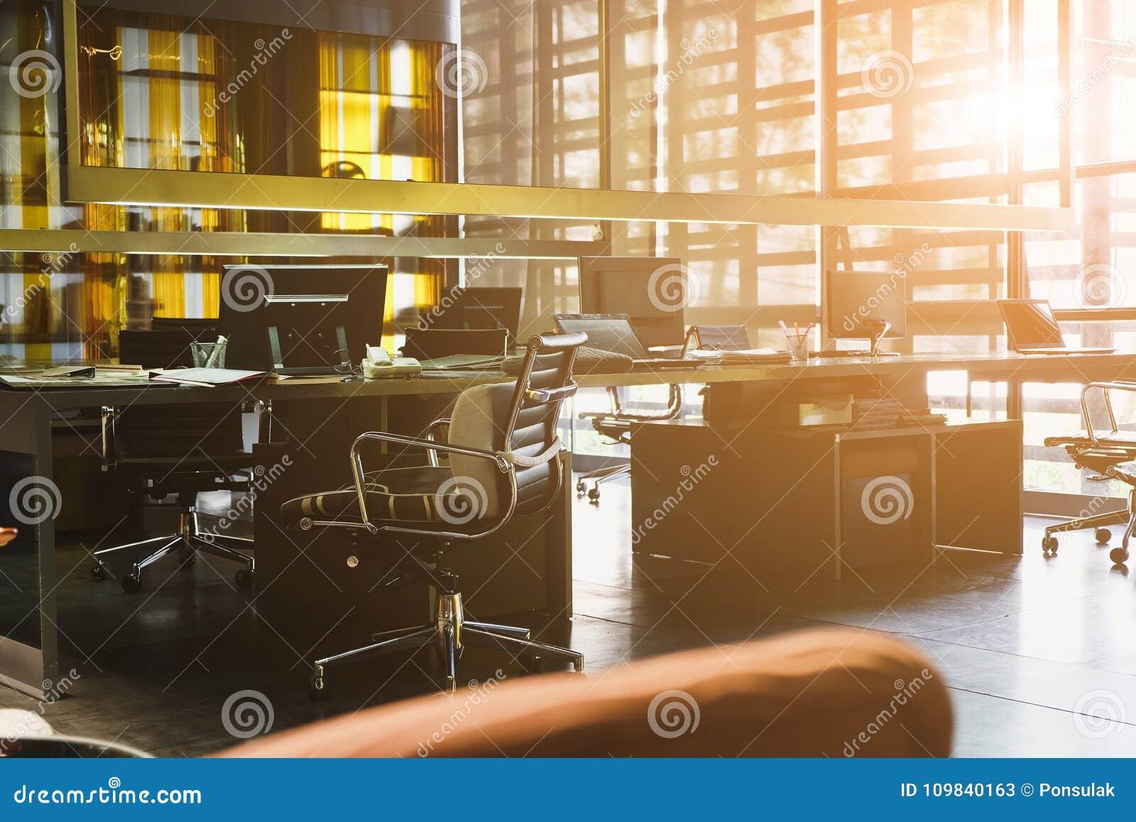 Espace De Travail Moderne Et Espace Coworking Image stock ...