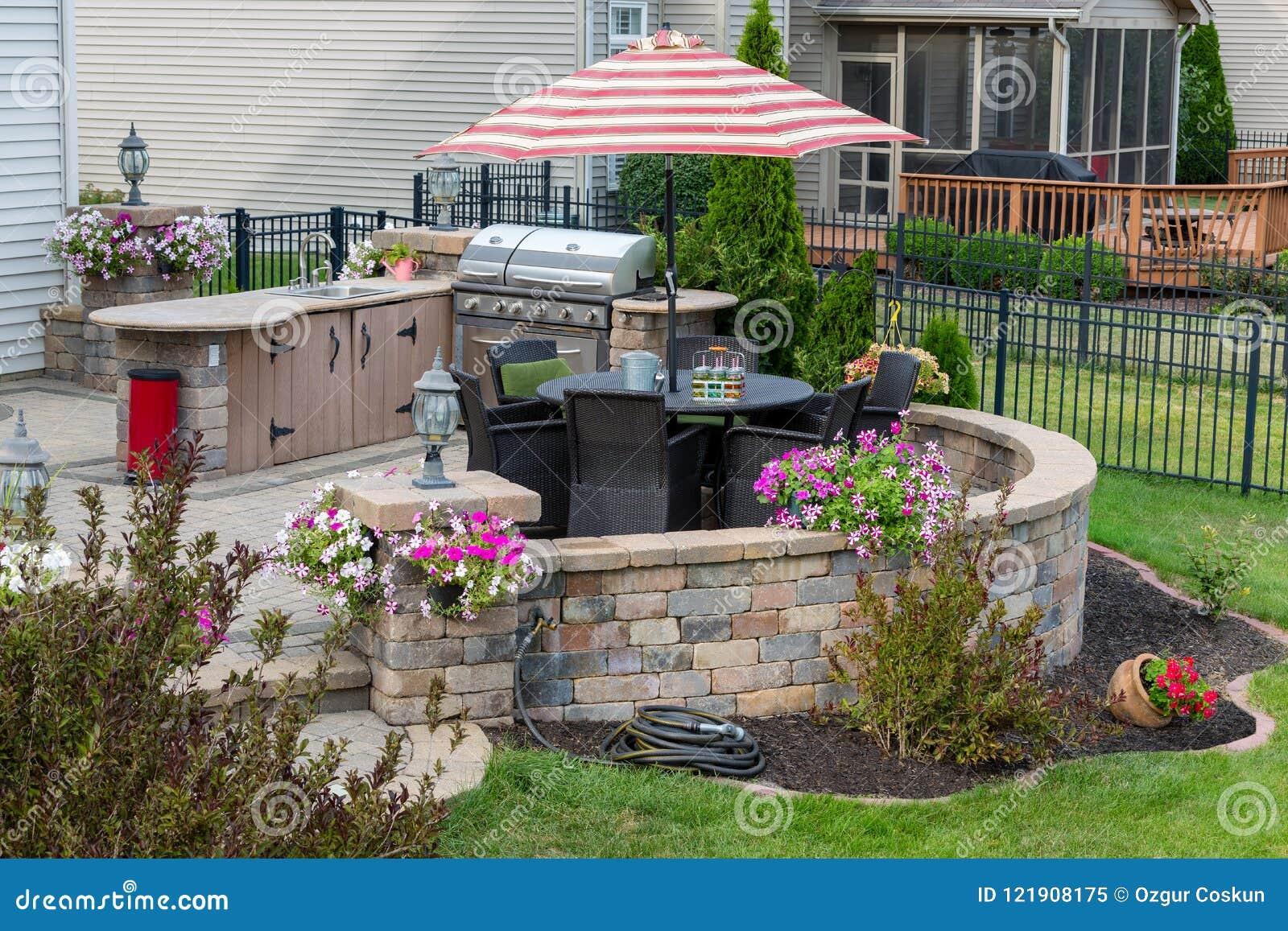 Espace Vital Extérieur Dans Un Jardin Aménagé En Parc ...