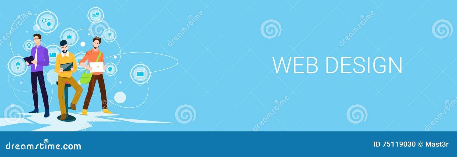 Espacio de Business People Team Working Banner With Copy del diseñador web