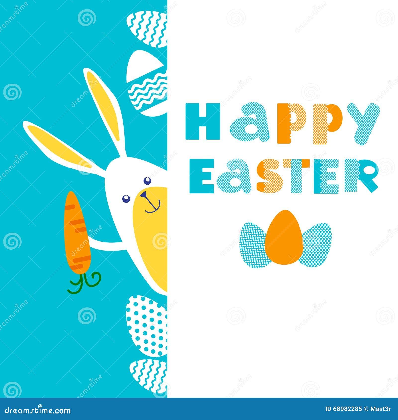 Espacio de la copia de la bandera de Bunny Painted Eggs Easter Holiday del conejo