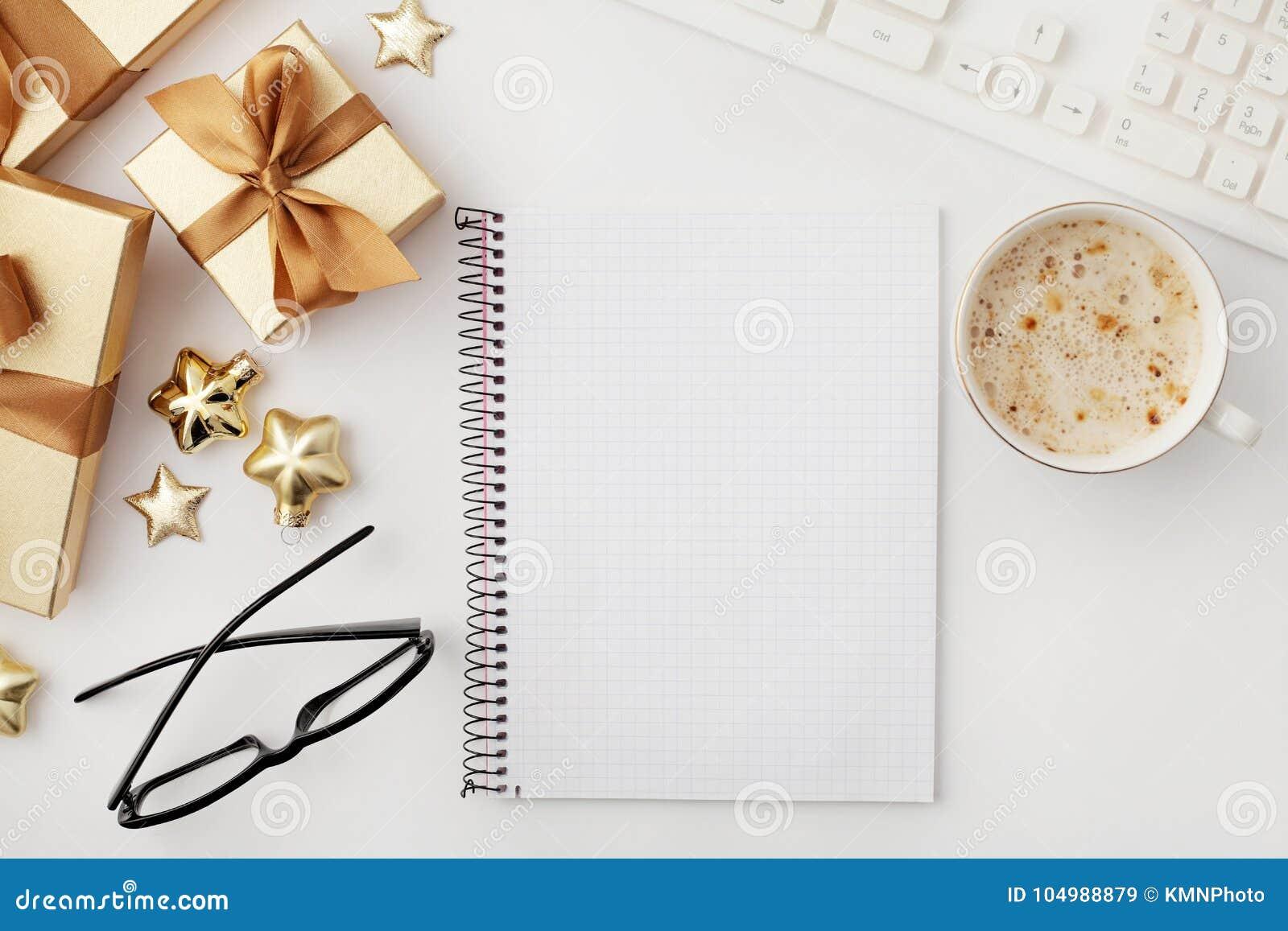 Espacio de trabajo de la Navidad