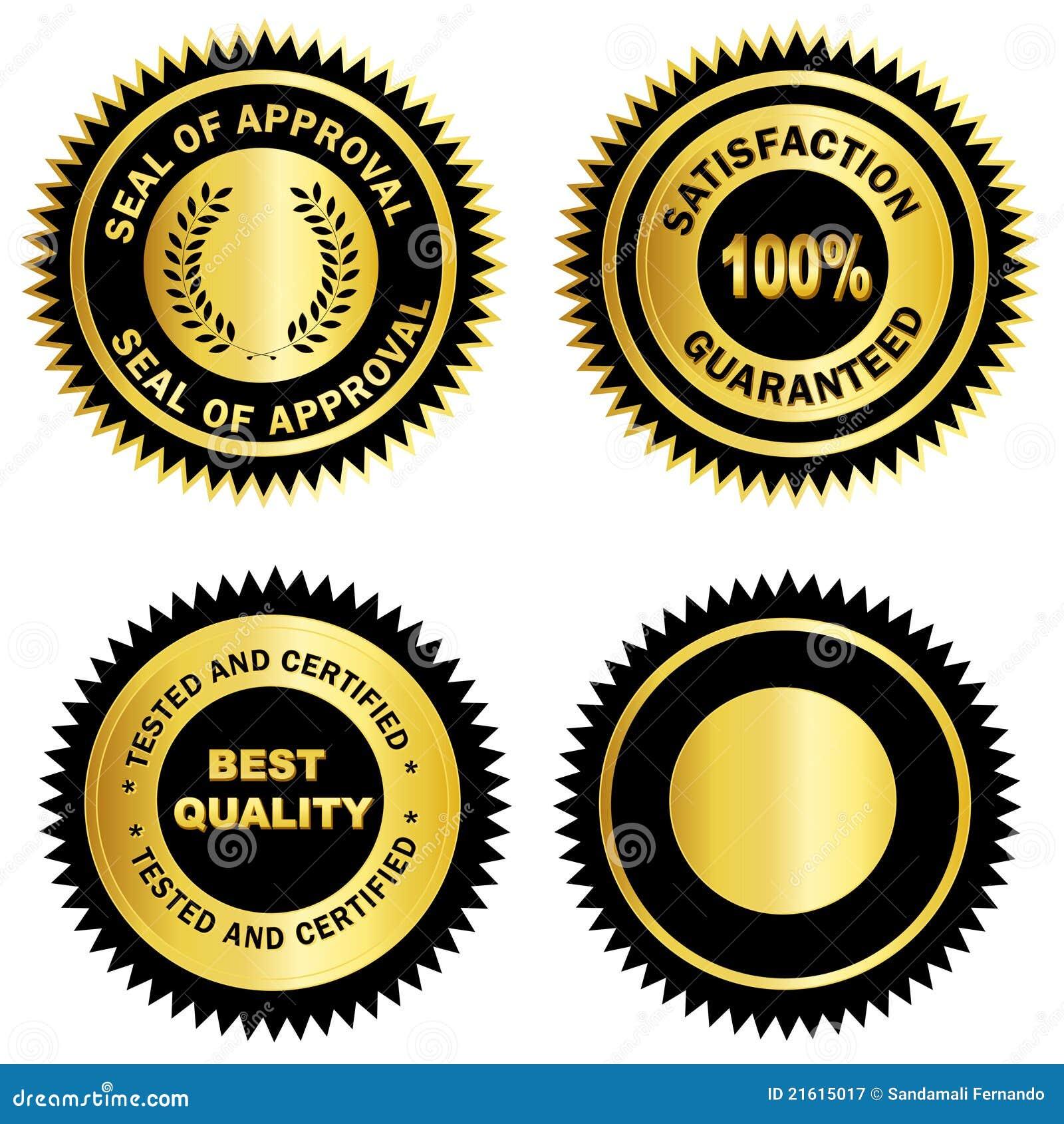 Espacio en blanco de /Stamp /Medal del sello del oro