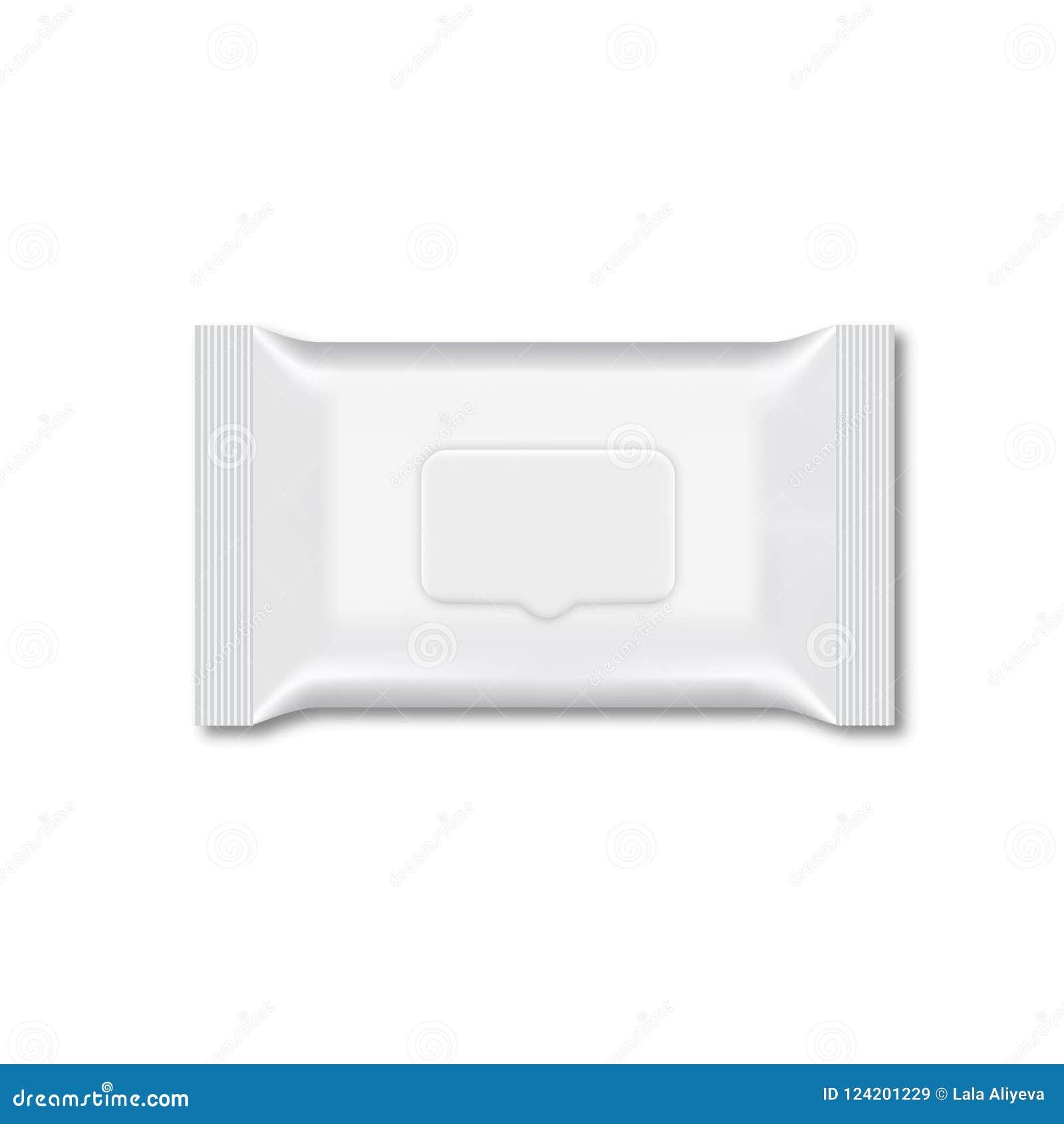 Espacio En Blanco Del Embalaje Mojado Del Flujo Del Trapo Vector ...