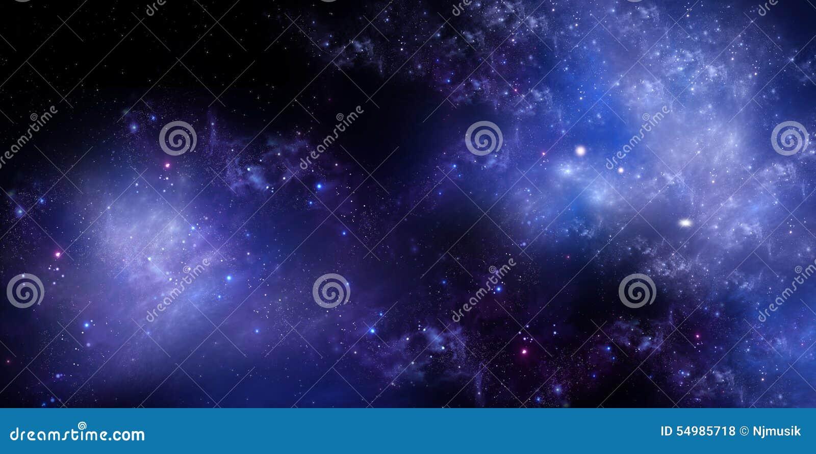 Espacio Exterior Profundo Del Cielo Nocturno Estrellado
