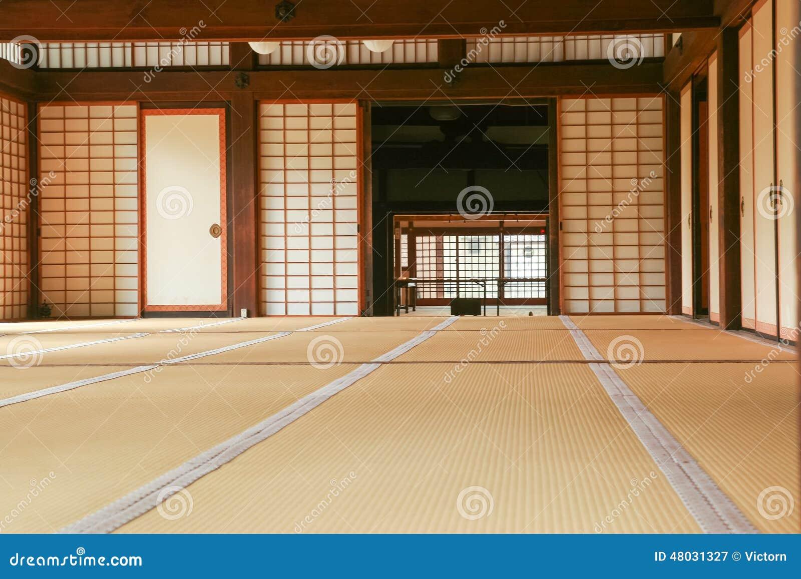 Espacio Interior De Una Casa Tradicional Japonesa Foto de archivo
