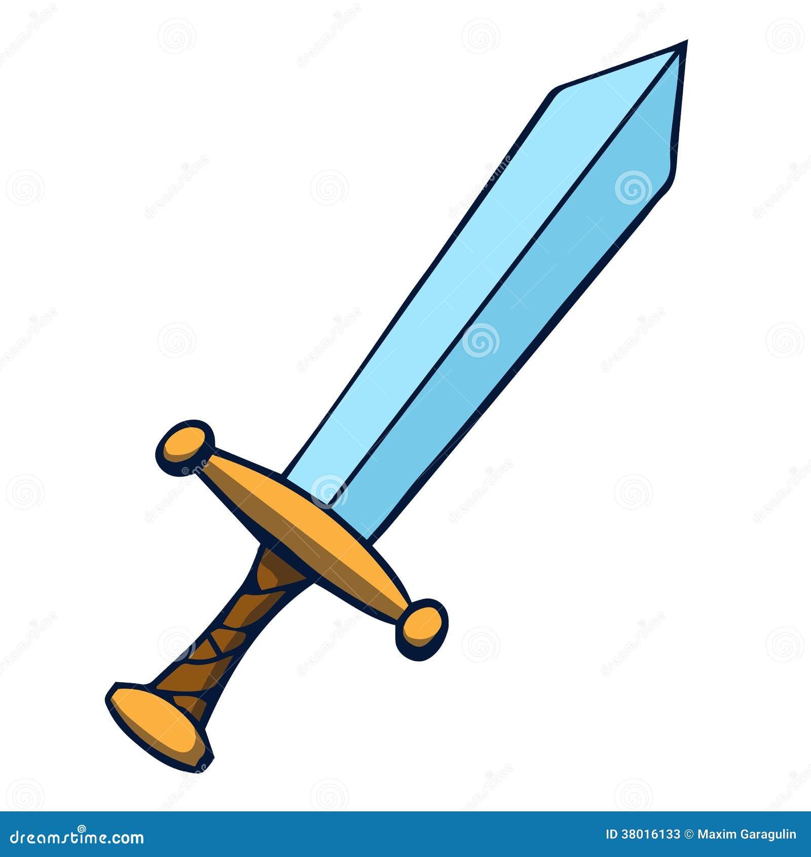 espada dos desenhos animados ilustra o do vetor fotos de