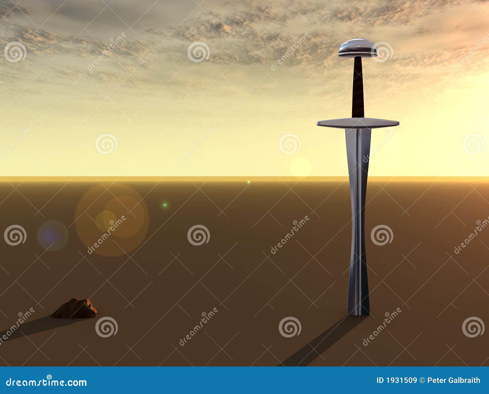 Espada en el amanecer