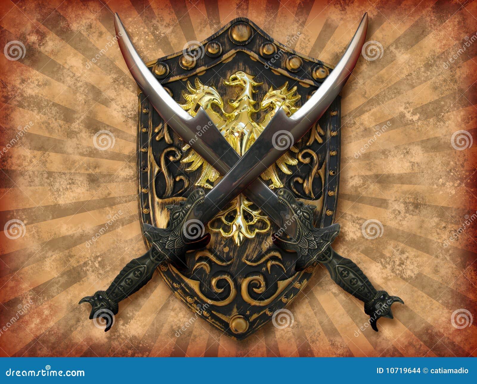 Espadas e protetor