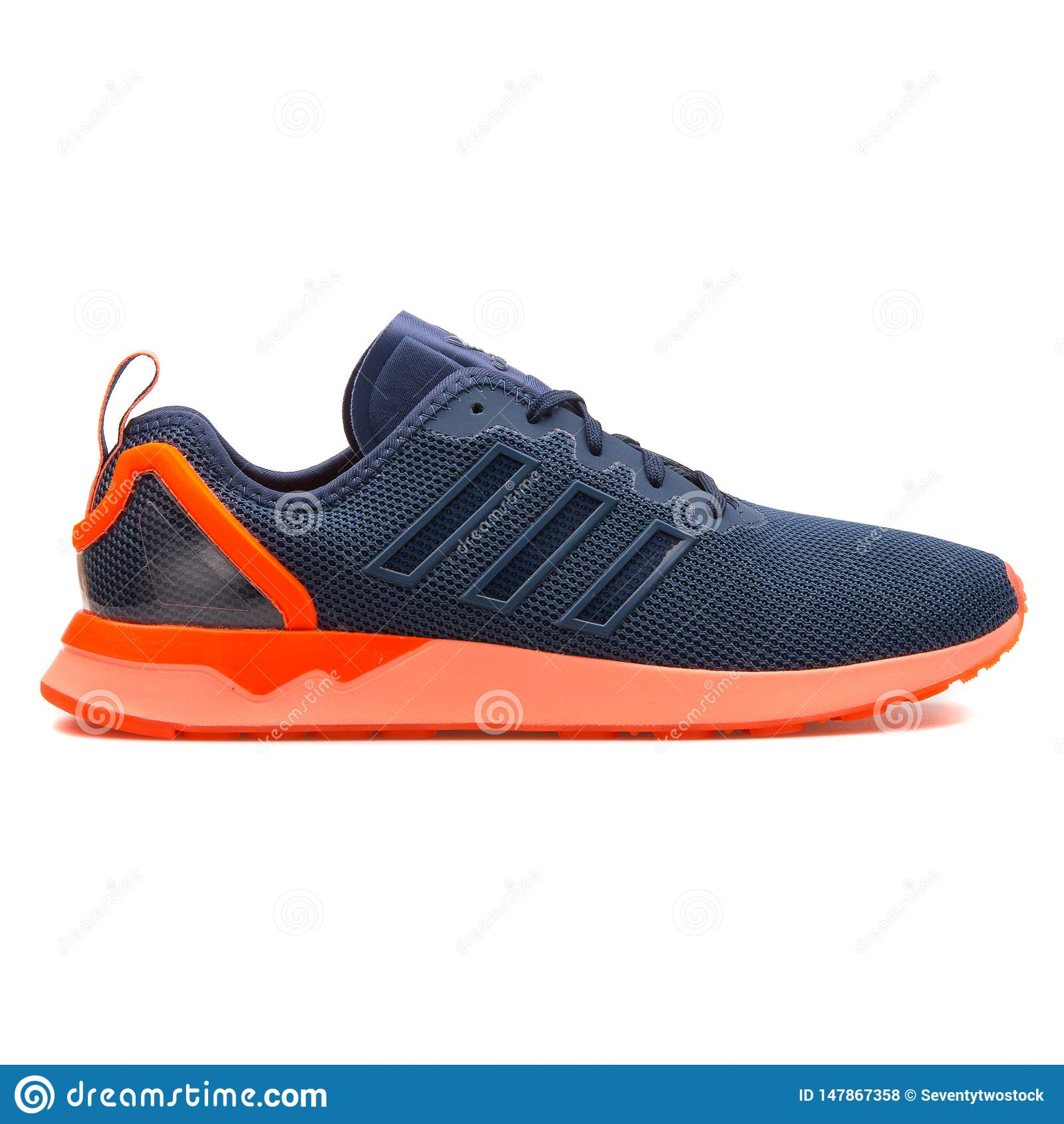 adidas zx flux orange bleu