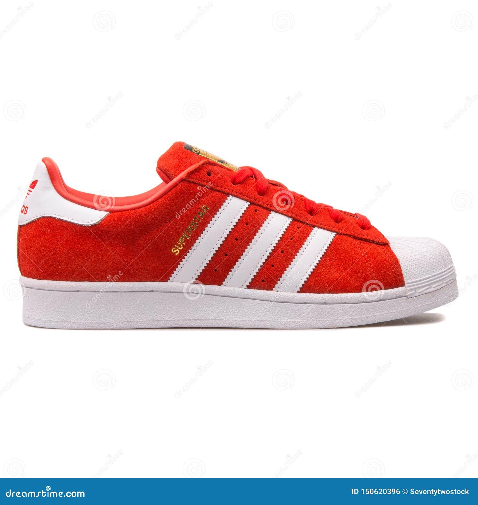 adidas superstar blanche rouge