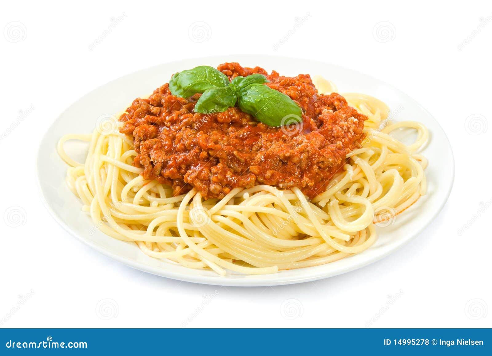 Espagueti boloñés en blanco