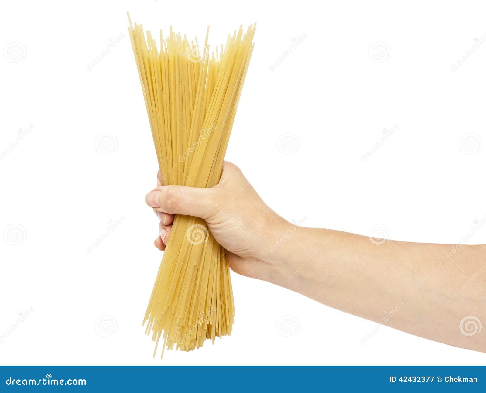 Espaguetis a disposición