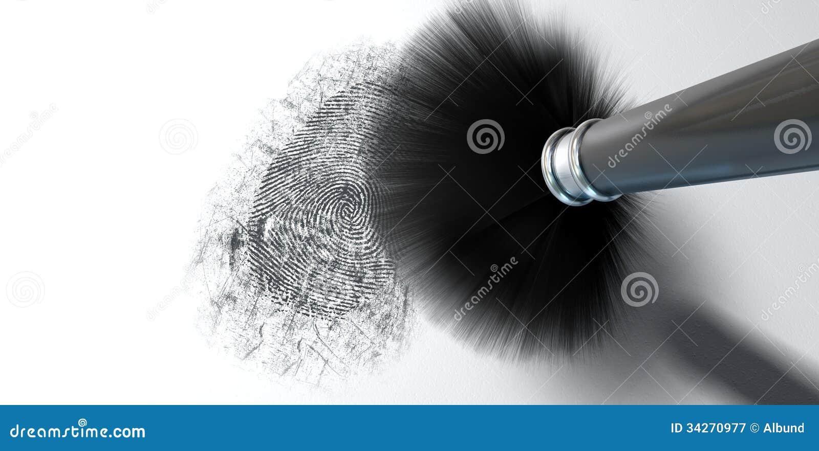 Espanar para impressões digitais no branco