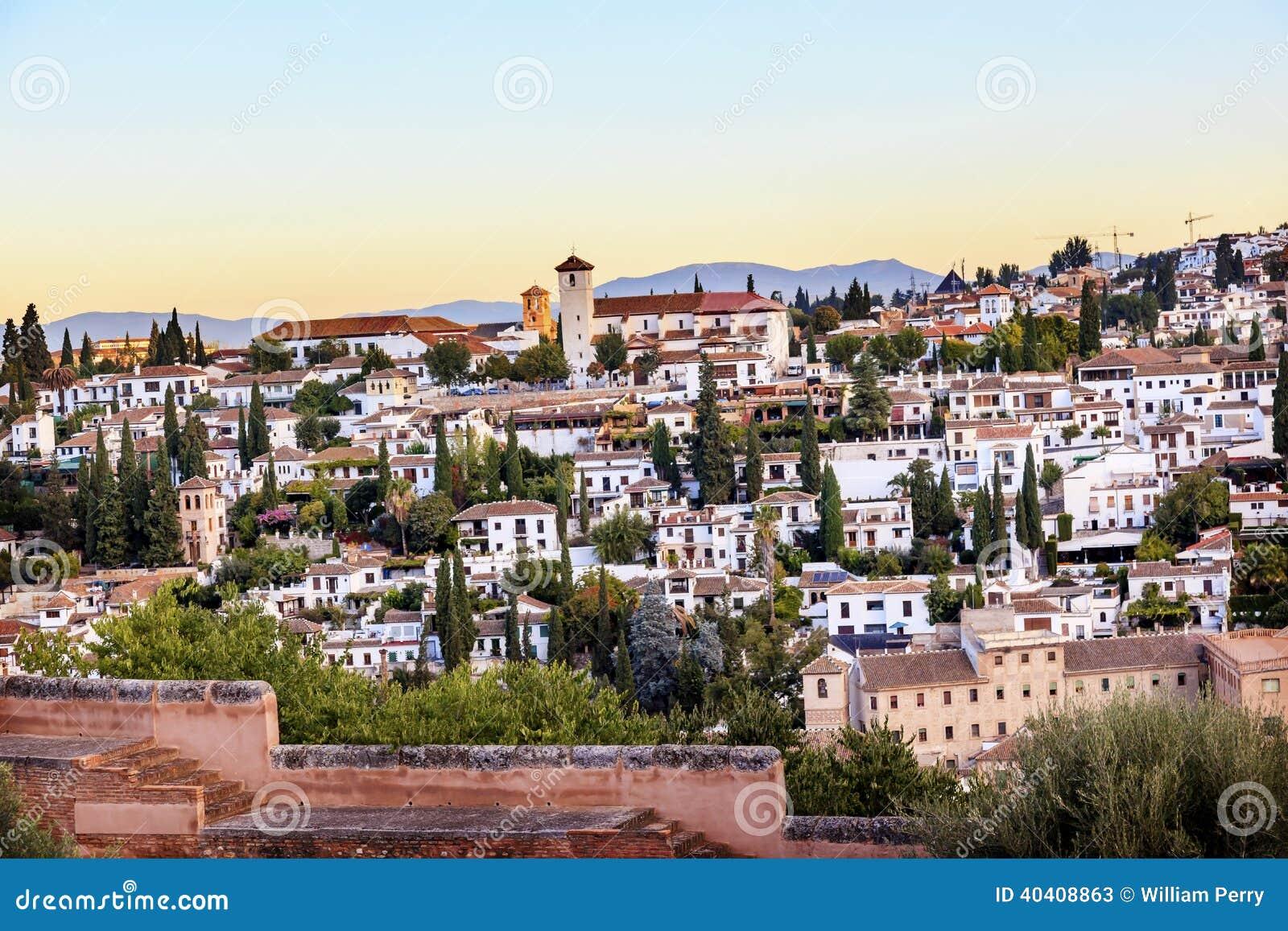Espanha de Alhambra Granada Cityscape Churches Andalusia