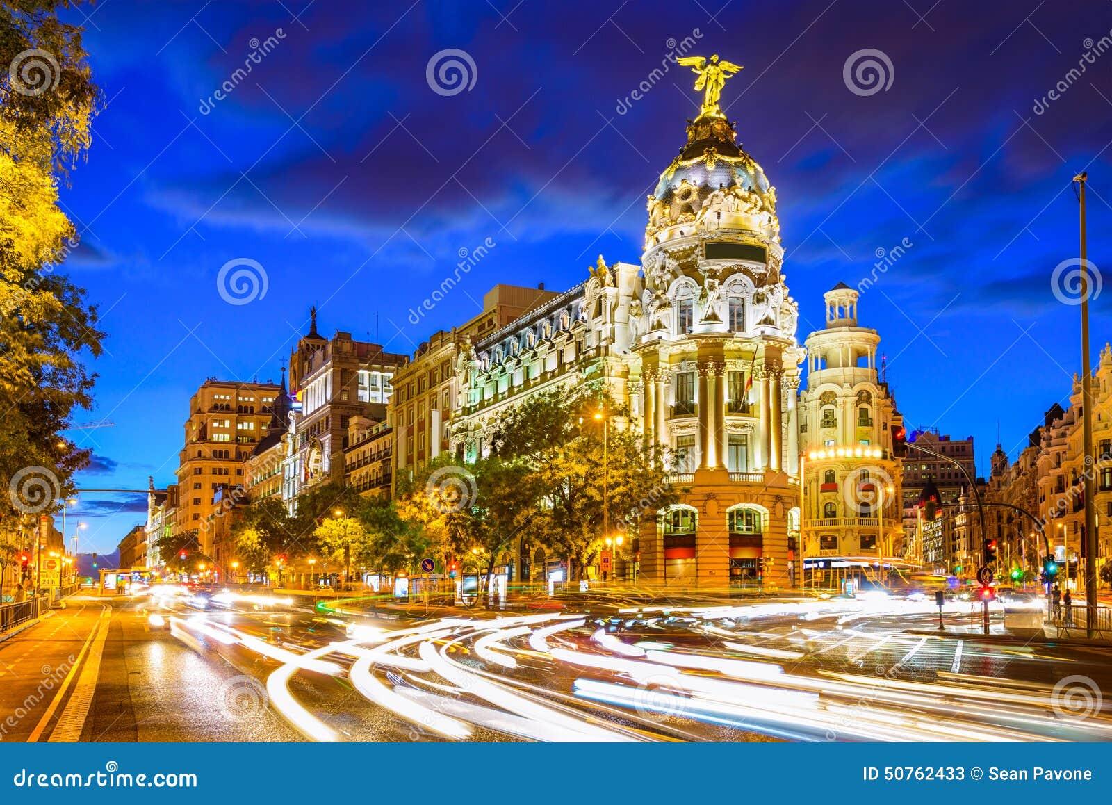 Espanha do Madri em Gran através de