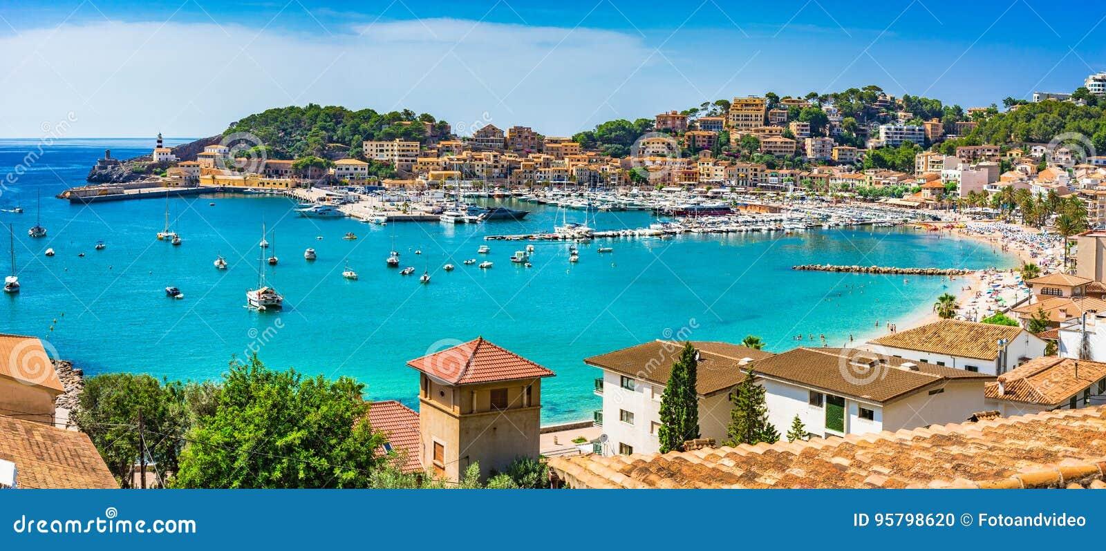 Espanha Majorca Porto de Soller do mar Mediterrâneo