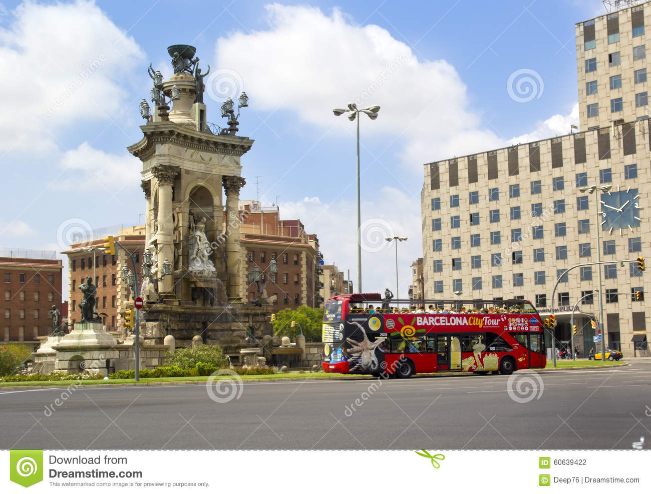 Espanya Square In Barcelona Editorial Photography  Image