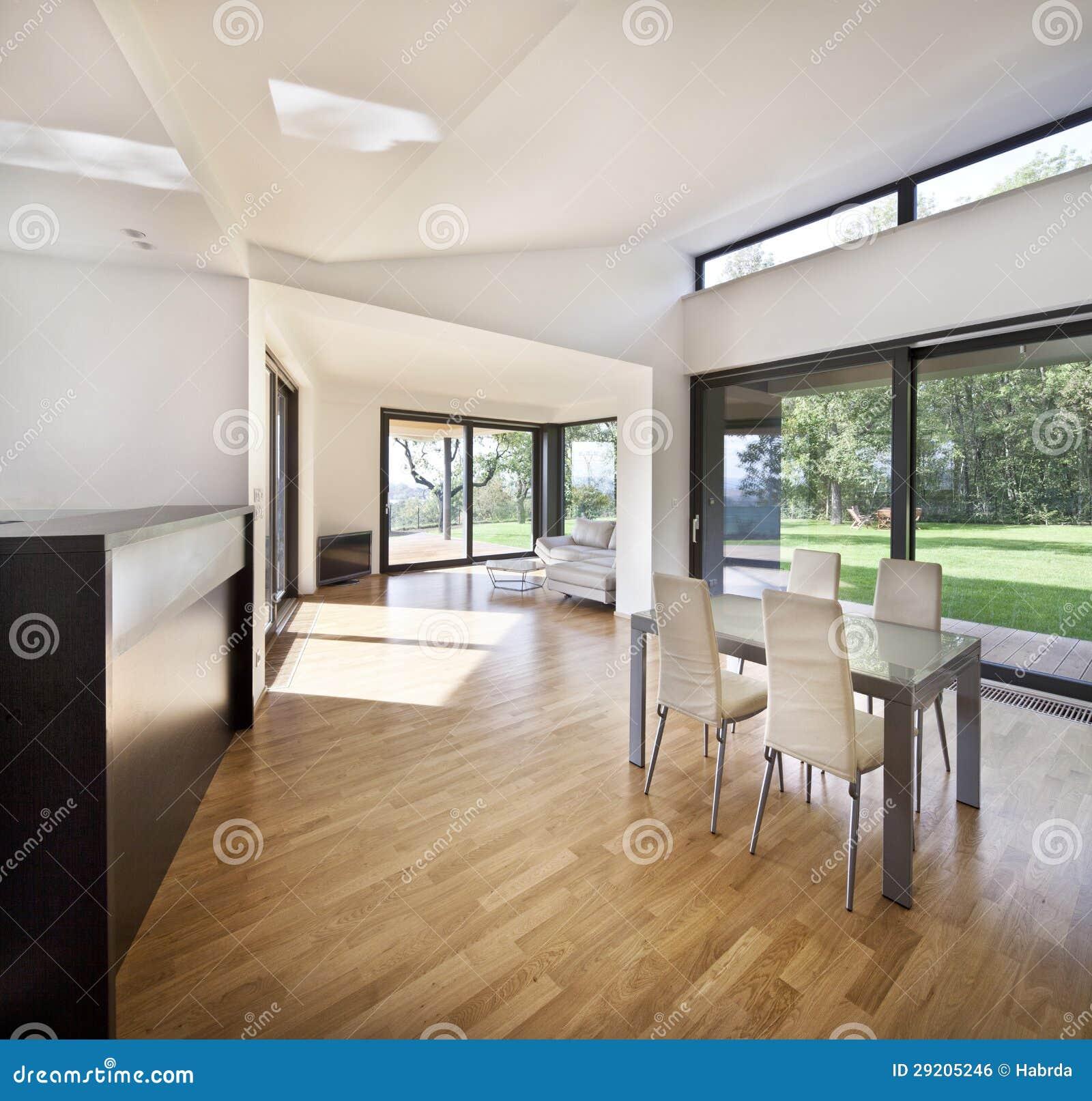 Espaço Aberto Da Cozinha No Interior Novo Da Casa Da Família Imagem  #664B31 1300 1327