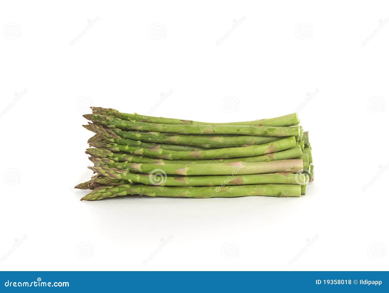 Espargos verdes crus