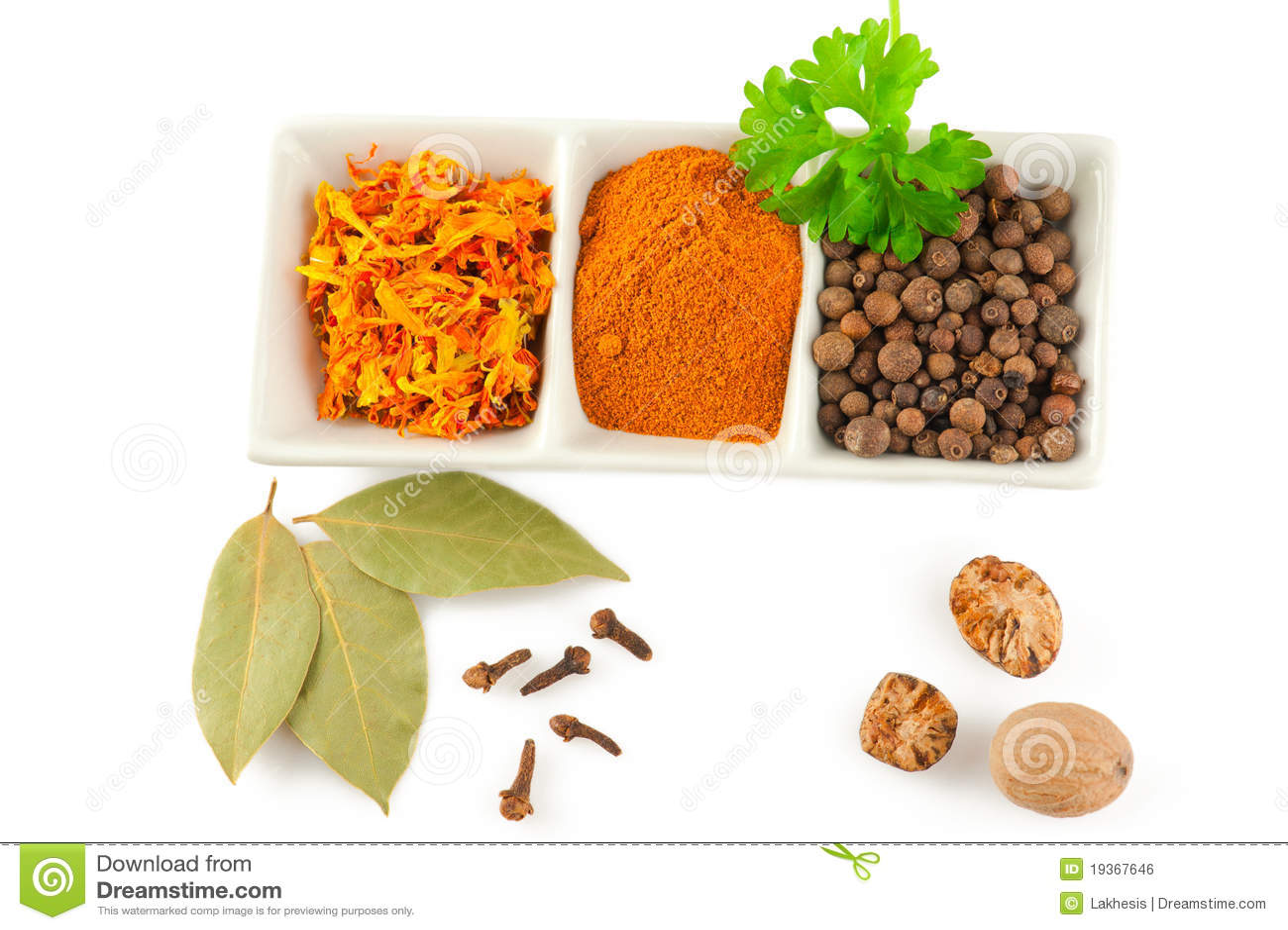 Especiarias. Mistura de ervas diferentes