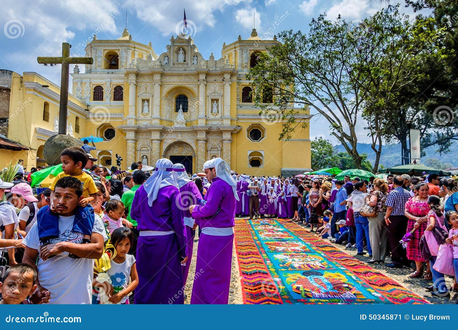 Espectáculo de Domingo de Ramos, Antigua, Guatemala
