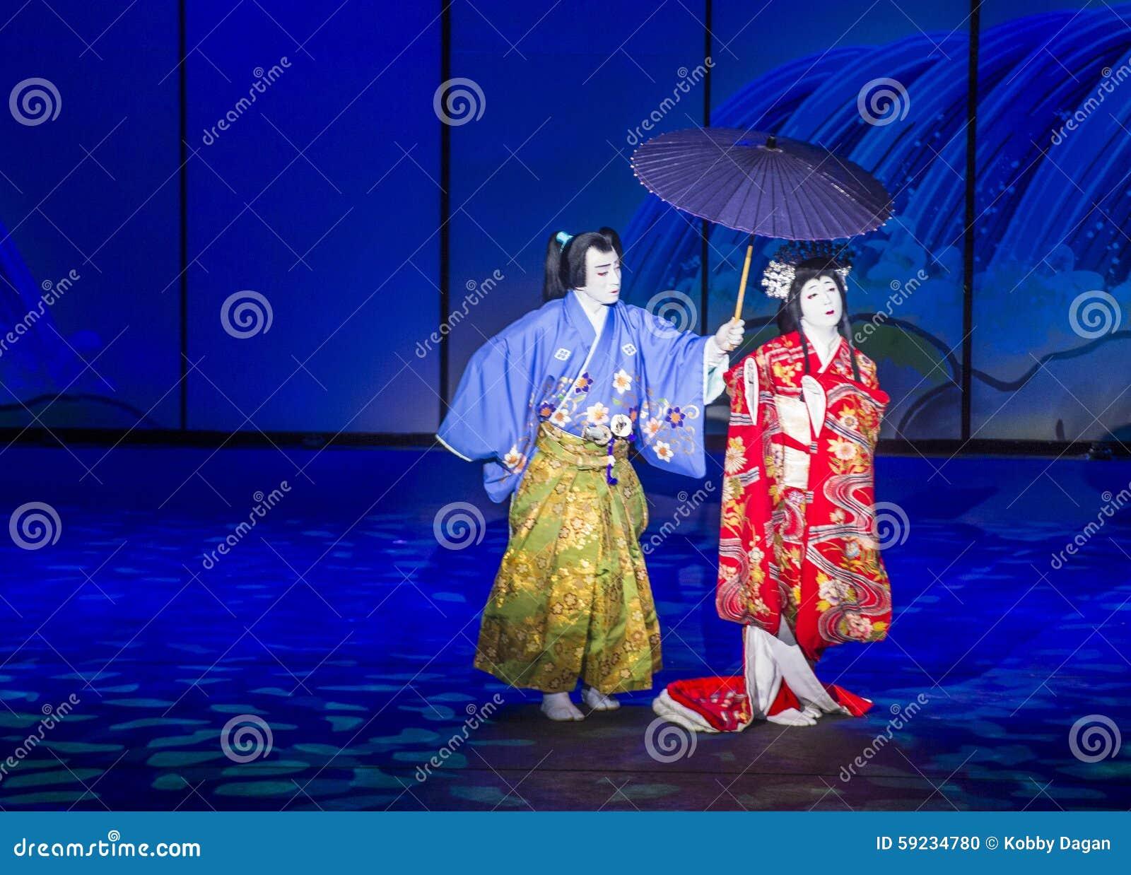 Espectáculo de Kabuki en las fuentes de Bellagio