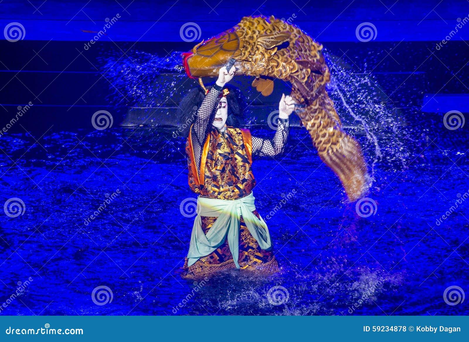 Download Espectáculo De Kabuki En Las Fuentes De Bellagio Foto de archivo editorial - Imagen de japón, cara: 59234878