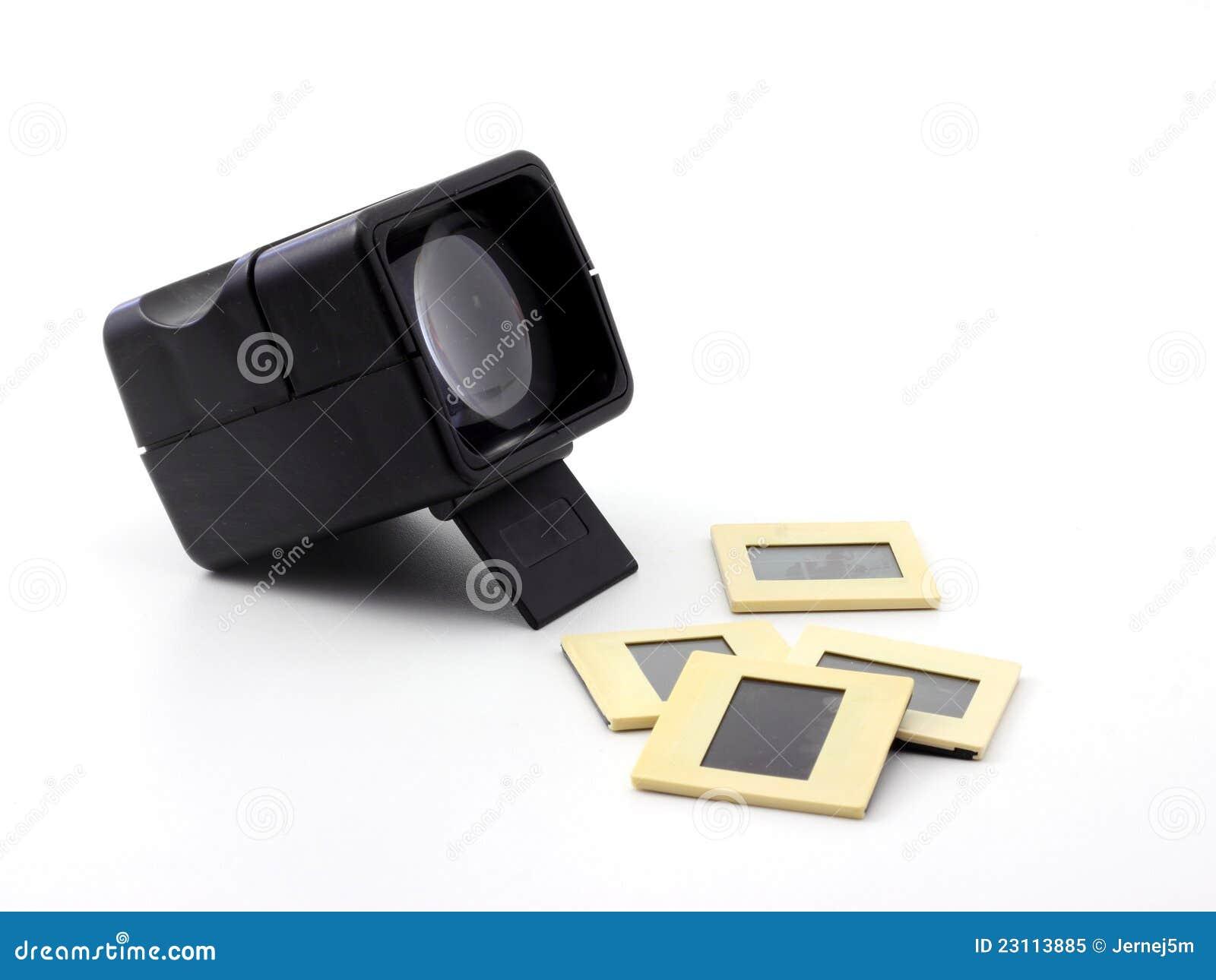 Espectador de diapositiva retro plástico