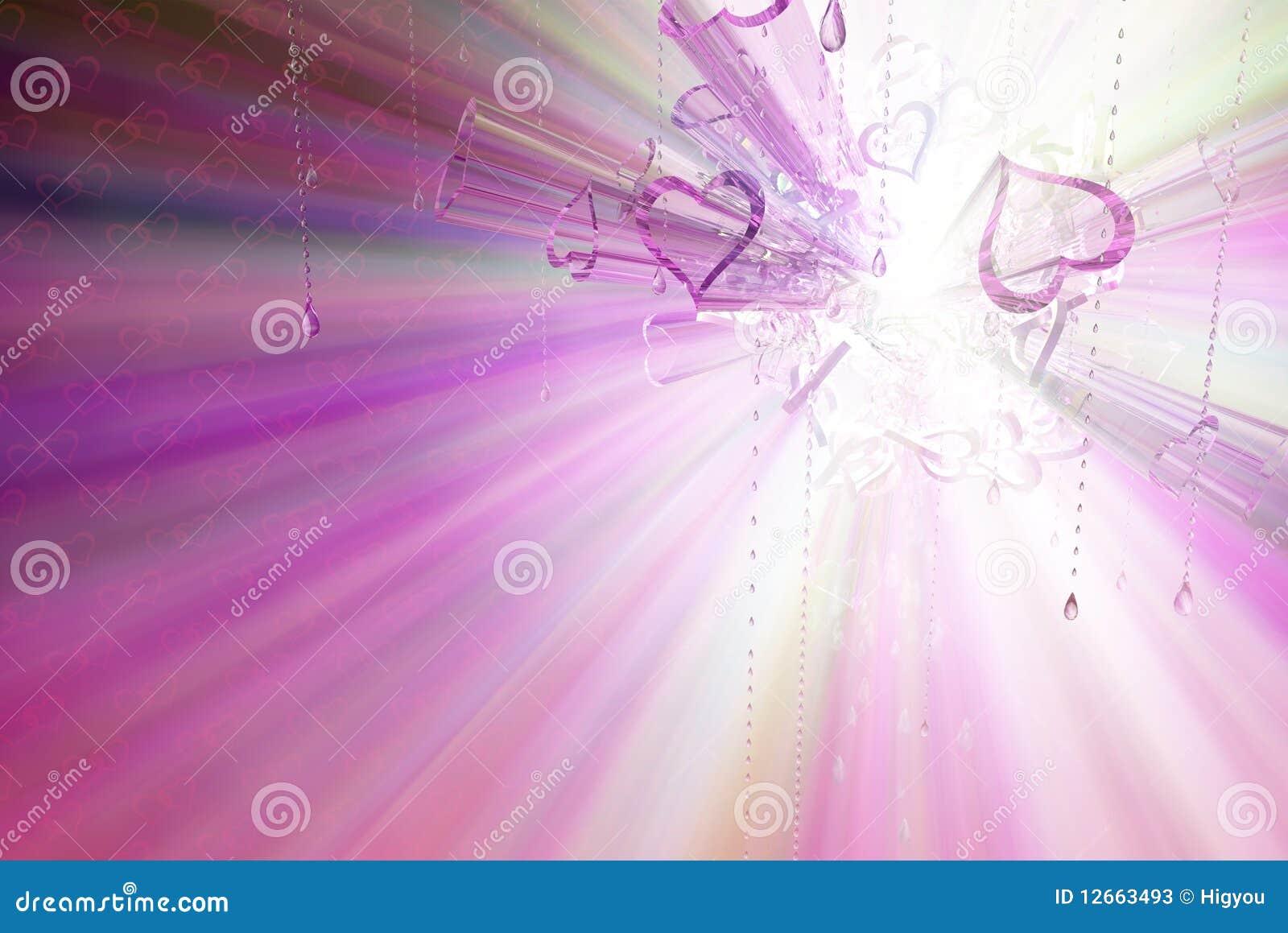 Espectro de vidro do coração