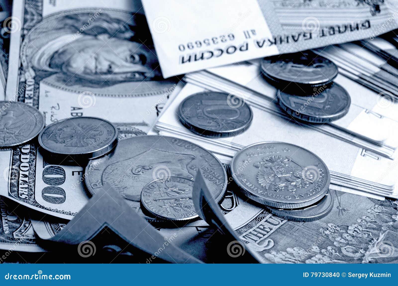 Especulación del urrency del  del dólar Ñ de la rublo