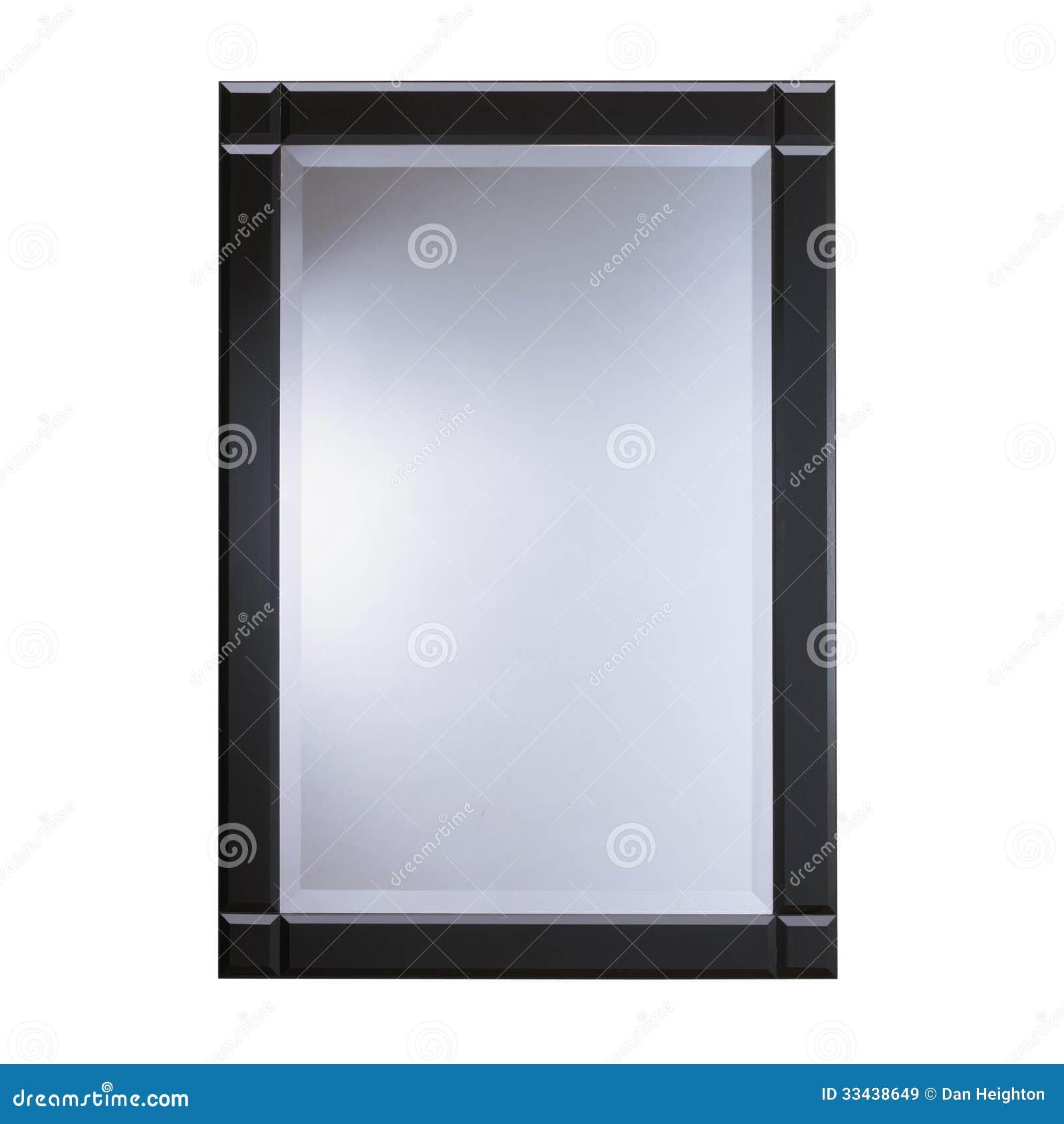 Espejo de cristal del marco negro im genes de archivo for Espejo marco cristal