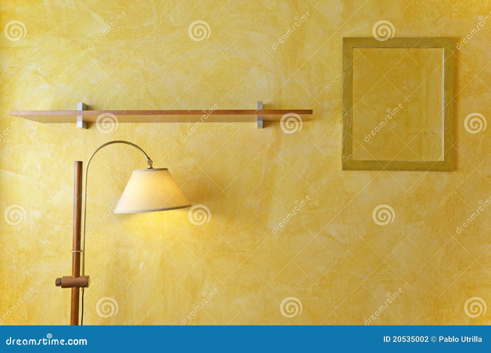 Espejos de la pared interior l mparas y estantes de madera - Lampara de pared interior ...