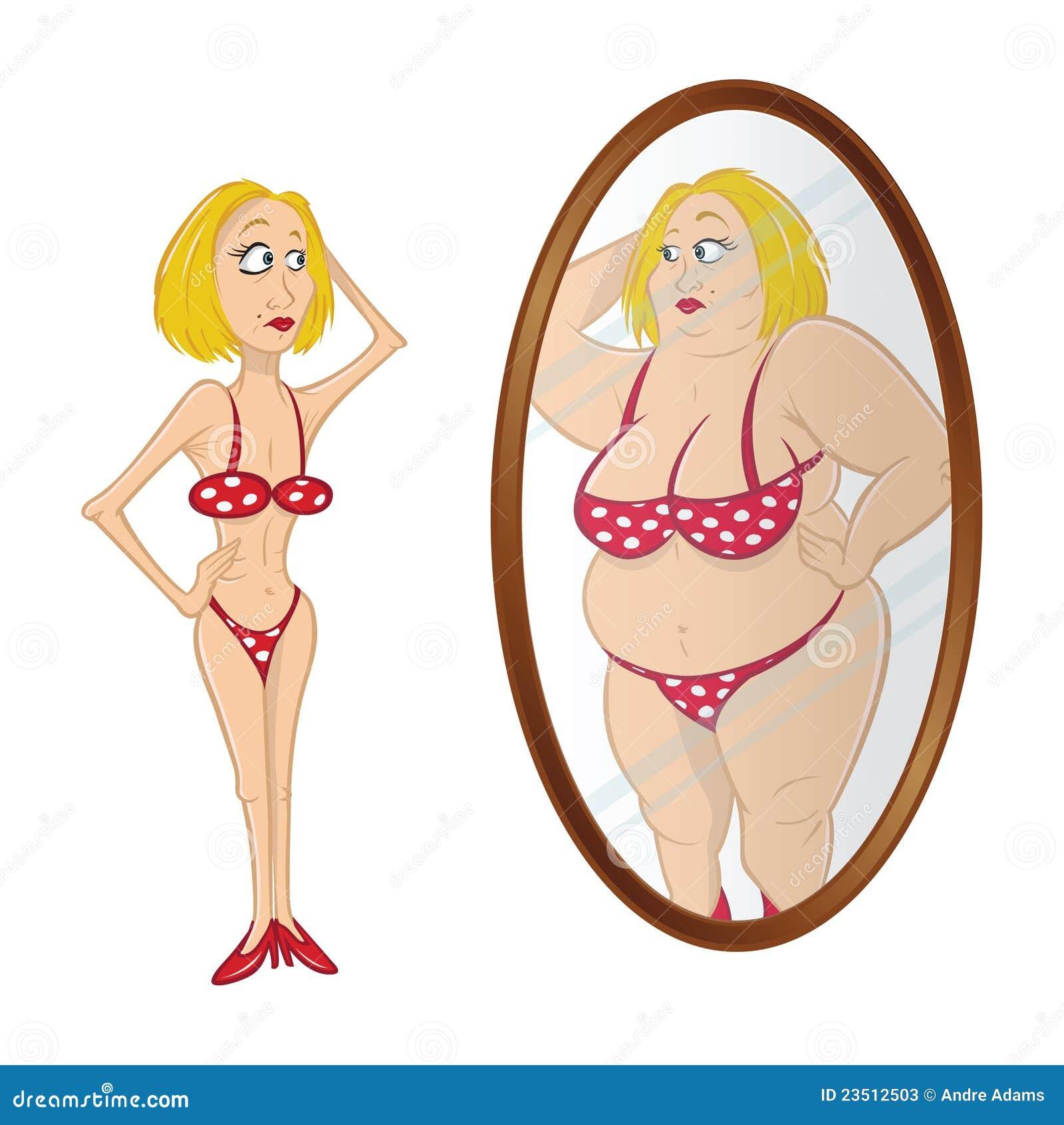 Espelho anorexic modelo fotos de stock imagem 23512503 for Pics de chicks dans l miroir