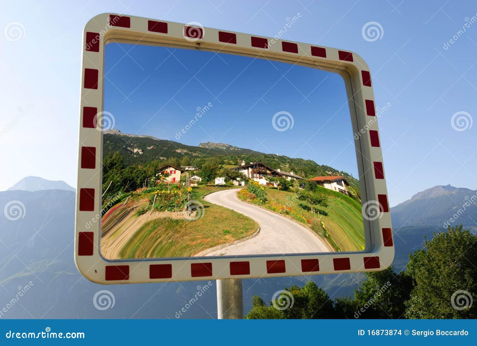 Espelho do jardim em Crans Montana