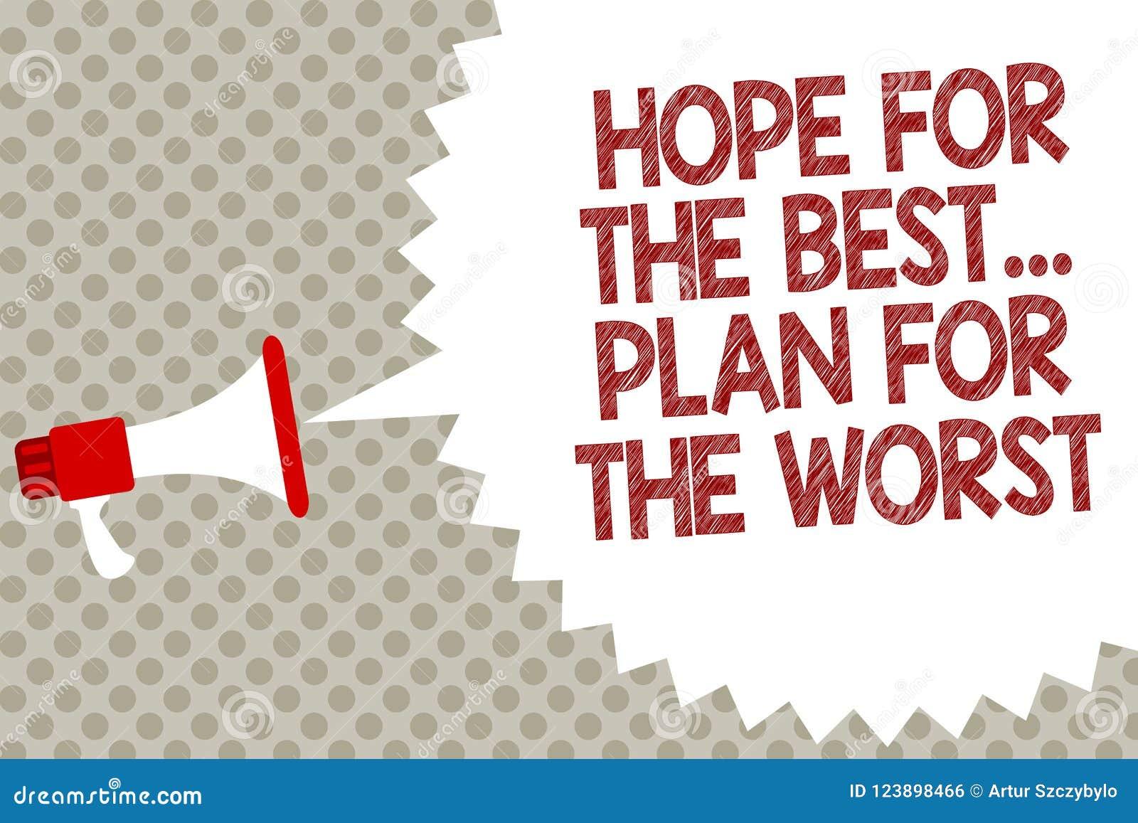 Esperanza Del Texto De La Escritura Del Mejor El Plan Para El